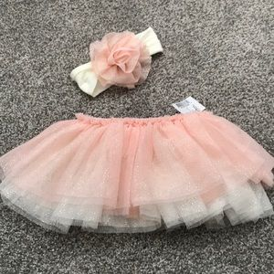 Diaper Cover Tutu With Matching Head Wrap